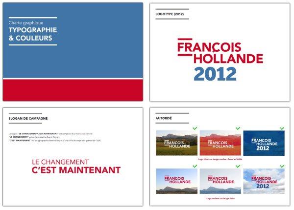Charte graphique de François Hollande
