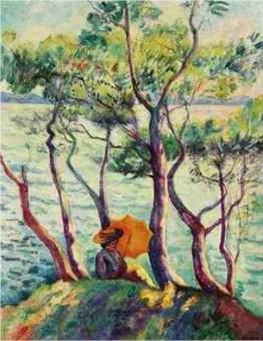 Jeanne à l'ombrelle, Henri-Charles Manguin (1906)